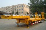 De 3-assen van Ctsm Gele Semi Aanhangwagen Lowbed met Ladder