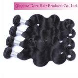 Cabelo não processado preto natural de trama peruano do Virgin do cabelo humano de qualidade superior