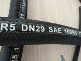 Mangueira de borracha hidráulica SAE100r5 da trança da fibra e do fio de aço