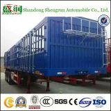 De cargaison en bloc des animaux de transport de frontière de sécurité de pieu remorque semi