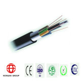 Fósforo ao ar livre Phosphating Wire Strength Member + Plastic Coated Aluminium Tape Fiber Optical Cable