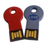 주문 로고를 가진 중요한 모양 금속 USB 펜 드라이브