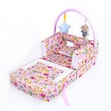Barra piegante piegante di protezione delle feci del sofà della greppia del bambino 2 In1