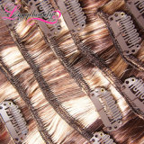 毛の拡張のバージンのRemyインドの人間のまっすぐなクリップ