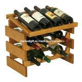 Cremalheira do vinho de 12 frascos com parte superior do indicador - suporte do vinho da fileira do quadrilátero