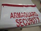 Auto-adesivo com a fita evidente da calcadeira de sacos da segurança