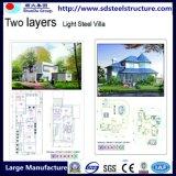 Gebouw-Modulaire Huis van het Staal van het staal het structuur-Lichte