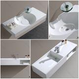 Lavabo moderne en gros de cuvette de salle de bains de pierre d'hôtel