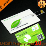 USB de Business Credit Card da alta qualidade com Logo 2.0/3.0 Flash Drive