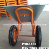 Double Wheel Barrow Galvanize Plateau Brouette (WB6418S)