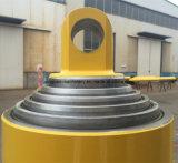 Cilindro hidráulico telescópico del carro de vaciado de 50 toneladas