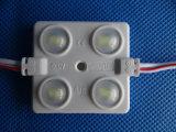 Módulo de la inyección LED de la decoración 4 LED del coche con la lente helada