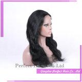 Parrucche nere lunghe brasiliane dei capelli umani della parte anteriore completa del merletto