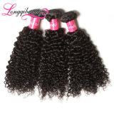 Doppeltes gezeichnete heiße verkaufende indische Remy lockiges Haar-Extension