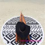 Tovagliolo di spiaggia rotondo del cerchio con cotone 100% superiore