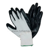 13G Polyster Glove Coated Nitrile Glove Safety Work Glove Cina