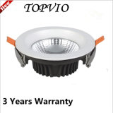 Ce RoHS 10W Dimmable de plata especular LED blanco Downlight
