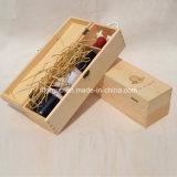 자연적인 색깔에 있는 새로운 디자인 원형 주문을 받아서 만들어진 나무로 되는 포도주 저장 상자