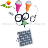 Luzes Home solares com o bulbo do diodo emissor de luz 2PCS/lâmpada de leitura solar portátil