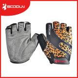 男女兼用のスエードは手袋/Subimationの転送の指の適性の体操の手袋半分遊ばす