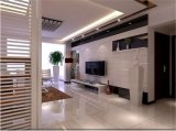 Dekorative Fernsehapparat-Hintergrund-Wand hergestellt vom Glas