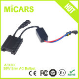 35W Real Power Output AC DC Slim HID Xenon Ballast Black / Sliver