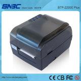 (BTP-2200E más) Ethernet serie-paralela WLAN del USB de 104m m dirige la impresora termal del código de barras de la impresora de la escritura de la etiqueta de la transferencia
