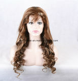 Peluca llena libre del cordón del pelo humano del enredo al por mayor