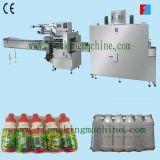 Machine automatique à grande vitesse d'emballage en papier rétrécissable de bouteille de yaourt