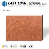 Бежевые слябы камня кварца точной частицы Polished искусственние для Tabletops/Countertops
