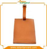 Étiquette en cuir colorée de bagage de modèle de propriétaire