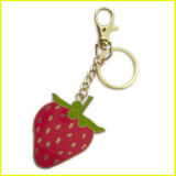 금은 에나멜을 입힌 과일 딸기 Keychain를 도금했다