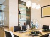 Placa de parede de vidro Tempered/de /Small da prateleira da parede decorativa da venda/vidro interior da mobília