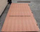 Cara natural de la teca y madera contrachapada de lujo posterior