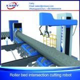 Tagliatrice del tubo d'acciaio di CNC di cinque Aixs per i tubi rotondi con il fornitore professionista Kr-Xy5 della macchina ossitaglio del plasma