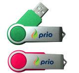 플라스틱 USB 플래시 메모리 회전대 USB 지팡이 운전사