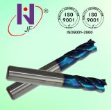4 cortadores contínuos do moinho de extremidade do carboneto dos graus das flautas HRC60