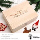 경첩을 단 뚜껑 선물 상자 목제 도매 Price_E를 가진 Hongdao Handmade 호화스러운 나무로 되는 포장 상자
