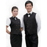 短いSleeve Stylish Waiter UniformsおよびRestaurant Uniforms
