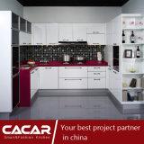 Rosa branca/gabinete de cozinha vermelho rosado da laca do verniz do Stoving (CAIK-02)