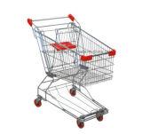 Einkaufen-Laufkatze mit vorderem bekanntmachendem Vorstand