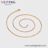 Gold überzogene Ketten-Halskette der Schmucksache-42626 einfaches 18K ohne Stein