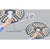 La lámpara Shadowless del funcionamiento del LED con la certificación del Ce aprobó (la caída MN-STZ4)