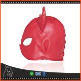 Hombres y mujeres adultos rojos atractivos de la máscara del sexo del cuero del Faux del látex de los juegos