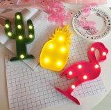 Luz de la lámpara de la fiesta de cumpleaños del día de fiesta de la decoración de la pared de la carpa del flamenco LED con pilas para el dormitorio de los adultos del bebé de los cabritos