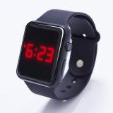 La pulsera LED del silicón del reloj de la jalea de Digitaces se divierte el reloj para los cabritos de los estudiantes