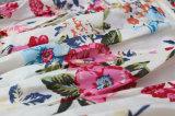 O vestido impresso floral extravagante o mais atrasado do algodão do verão da menina da criança de 2017 testes padrões caçoa a roupa
