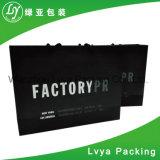 Punho de papel liso saco de papel impresso presente personalizado da compra do projeto