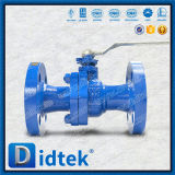 Molde funcionado palanca de Didtek API 6D vávula de bola de flotación de Wcb de 2 pedazos