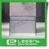 Moderner freier gebogener Glastisch für Systemkonsole